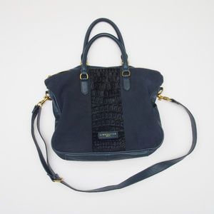 LIEBESKIND Berlin Esther Satchel Bag Leather Blue